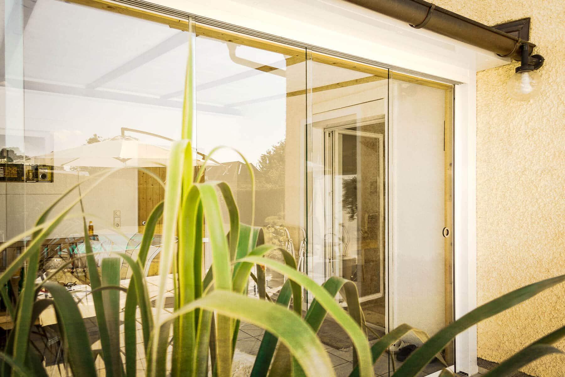 Schiebesystem aus Glas