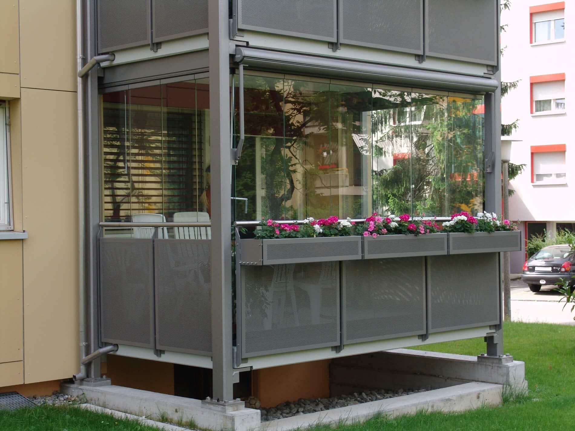 Schiebesystem für Balkon
