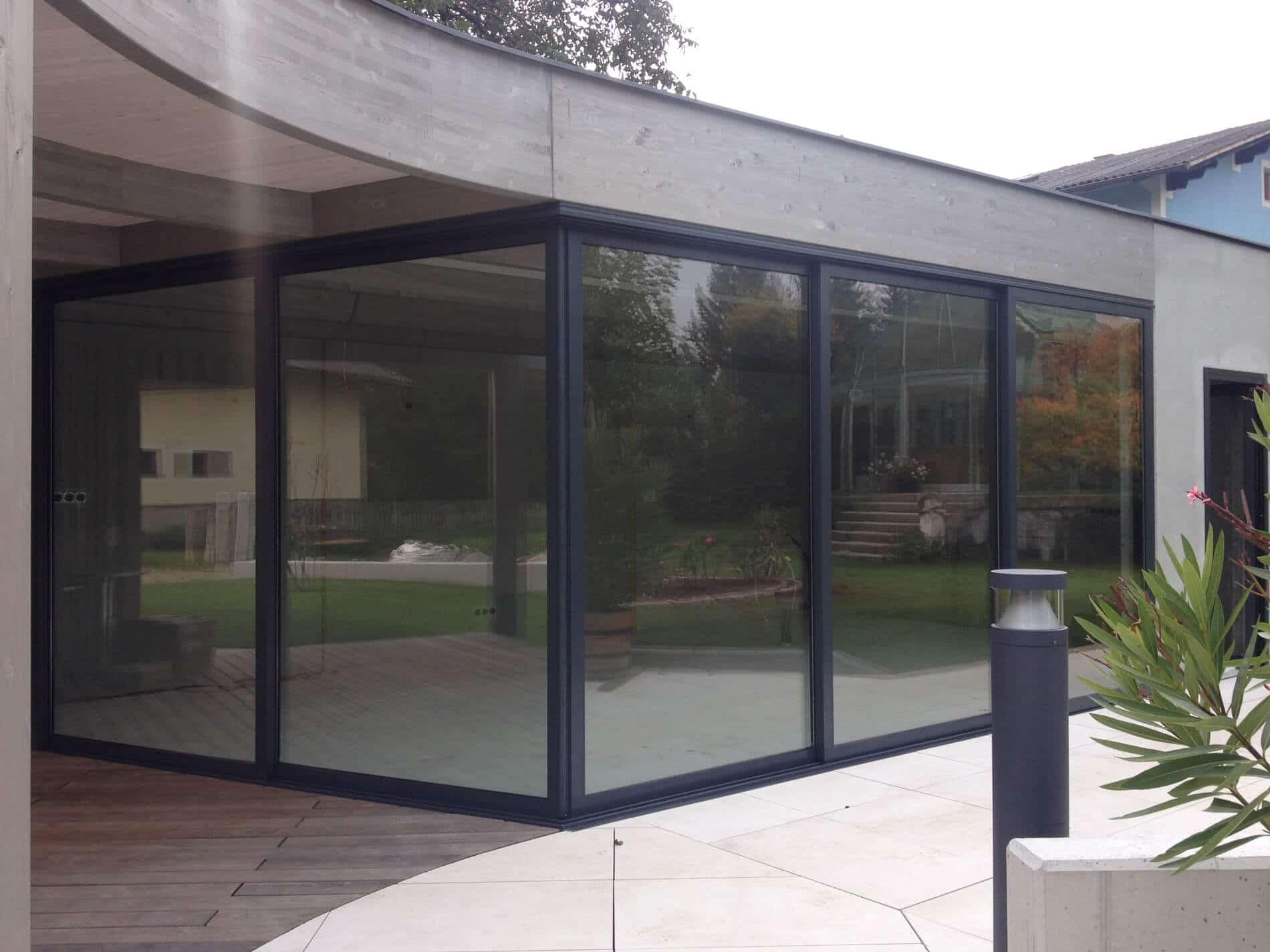 Schiebesystem Glas Wintergärten