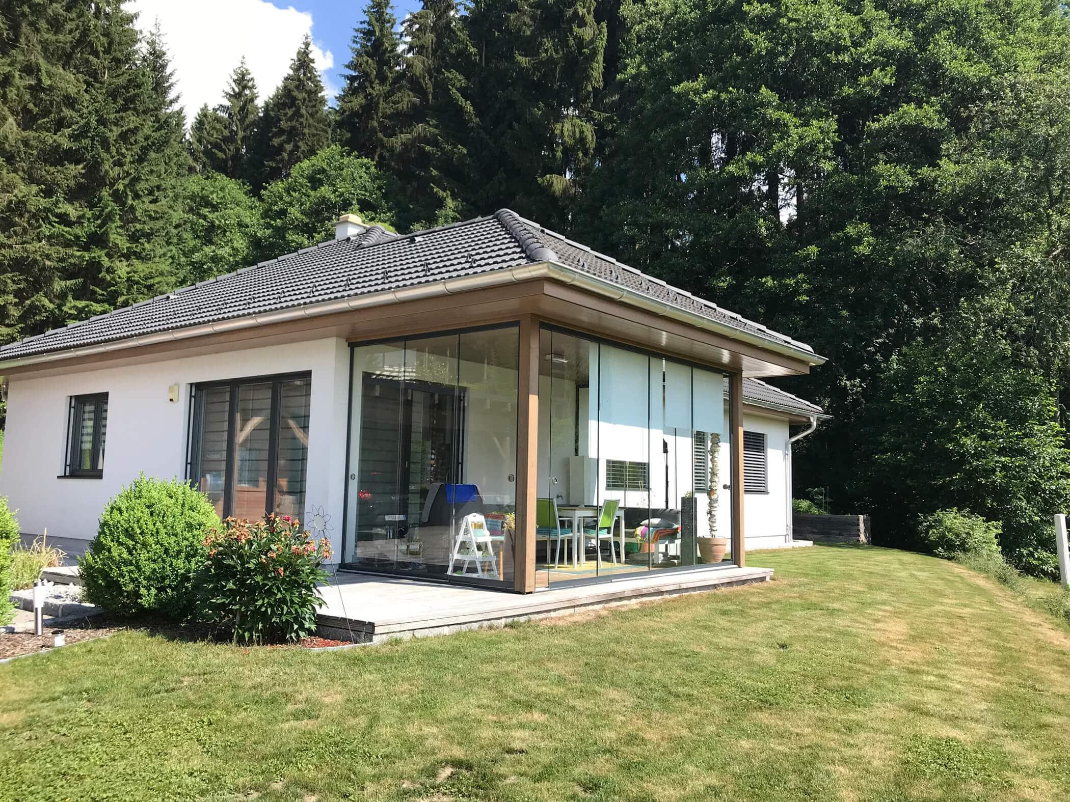 Schiebewand für Terrassenüberdachung
