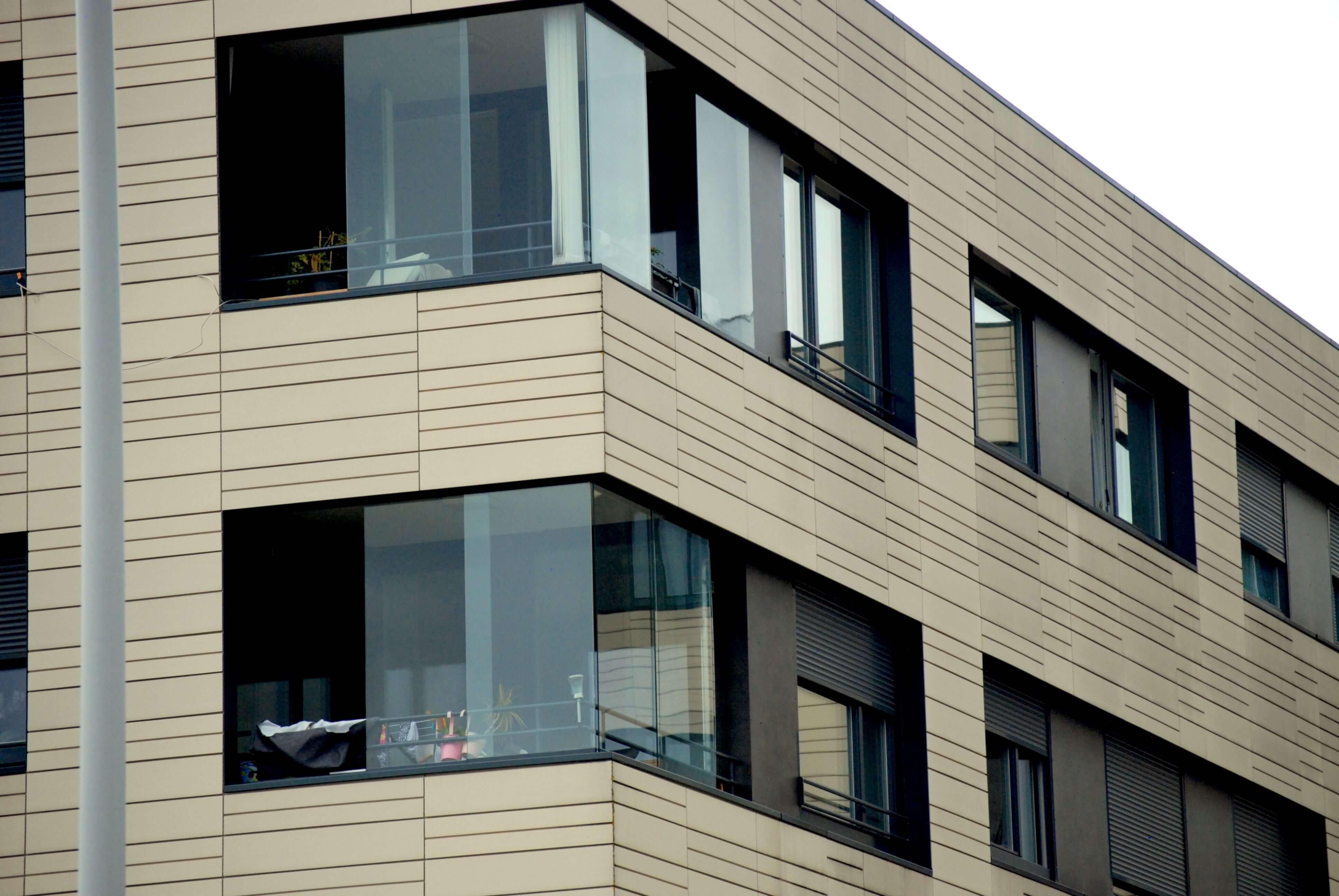 Schiebewand Glas Balkone