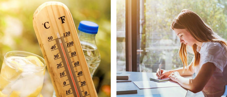 Bei Hitze lernen - Tipps Fenster-Schmidinger