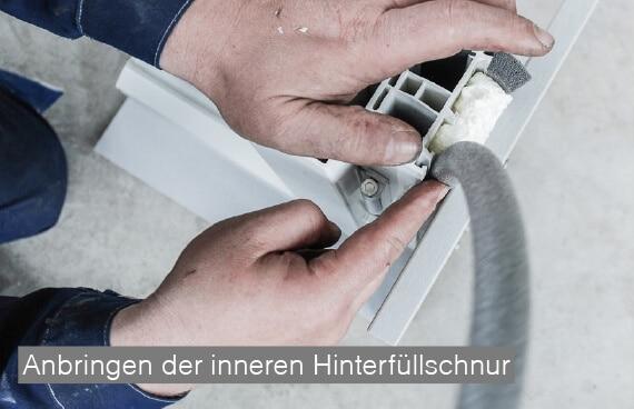 ÖNORM B5320 im Altbau - Rundschnur wird angebracht