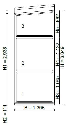 Schrägfenster fixverglast Planung