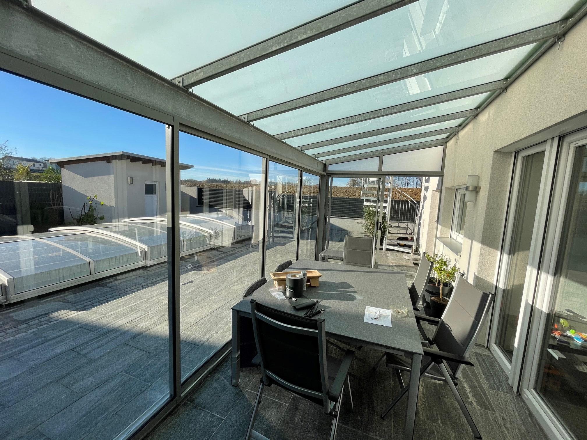 Seitenwand Glas Terrasse