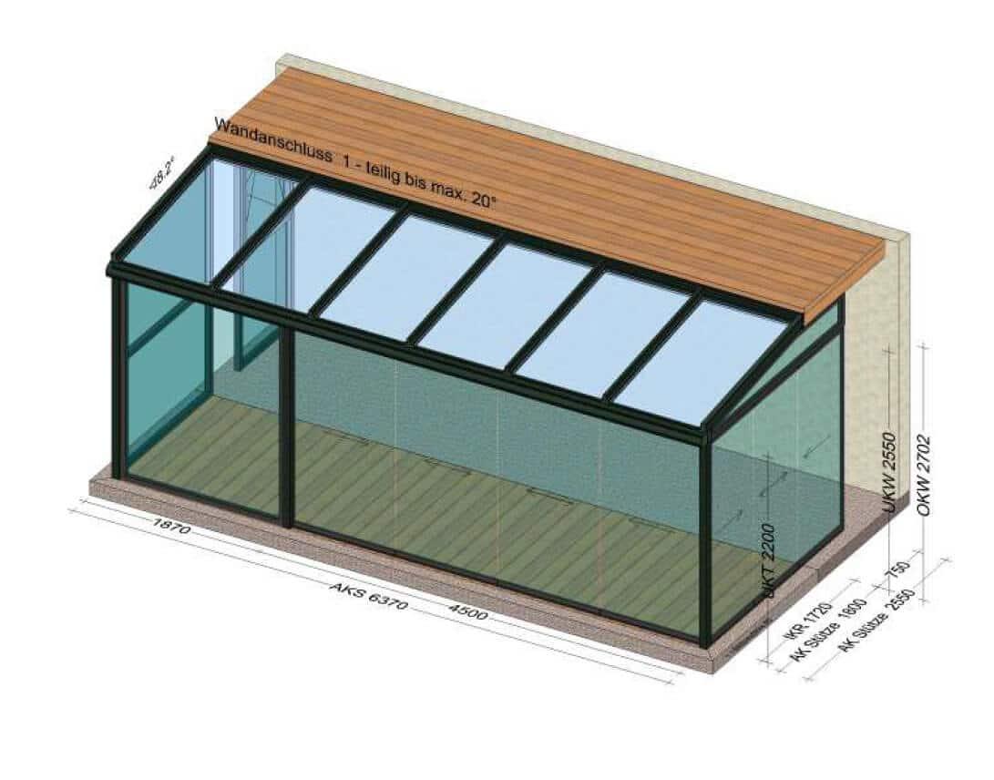 Sommergärten aus Glas mit Schiebetüren Sunflex