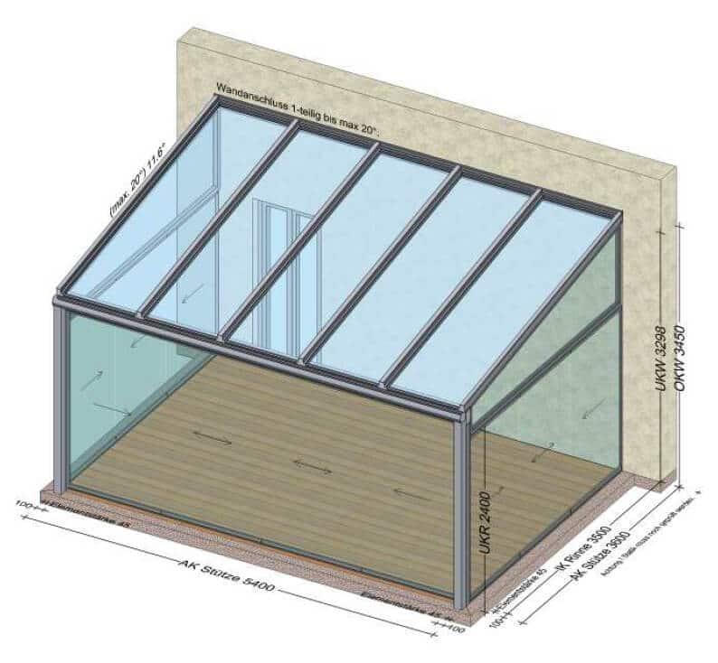 Sommergarten aus Glas