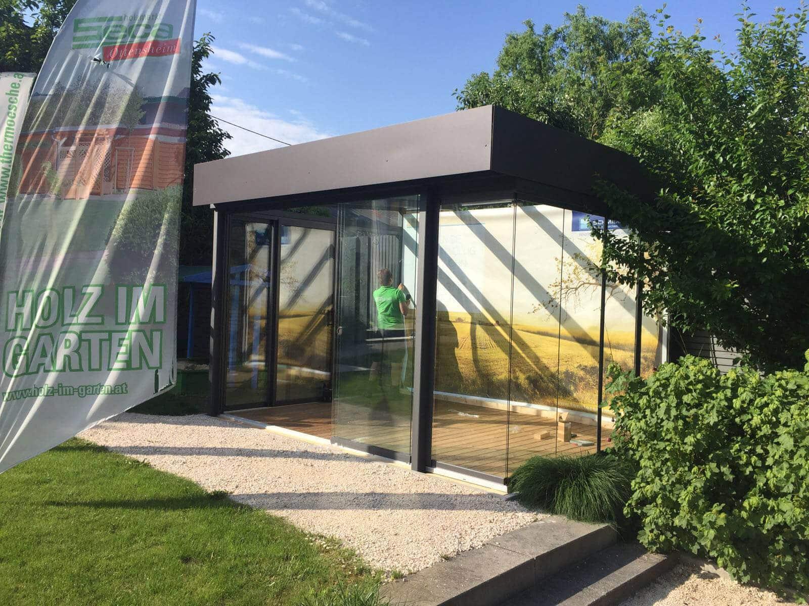 Sommergärten mit Flachdach