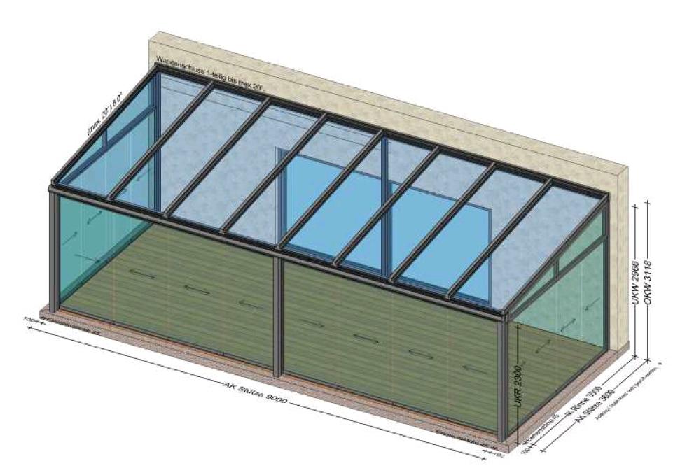 Sommergarten 9 Meter x 3 Meter - Planung