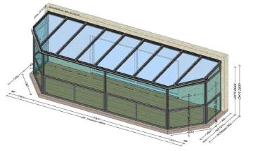 Sommergarten 9,6x2,85 Meter - Preise