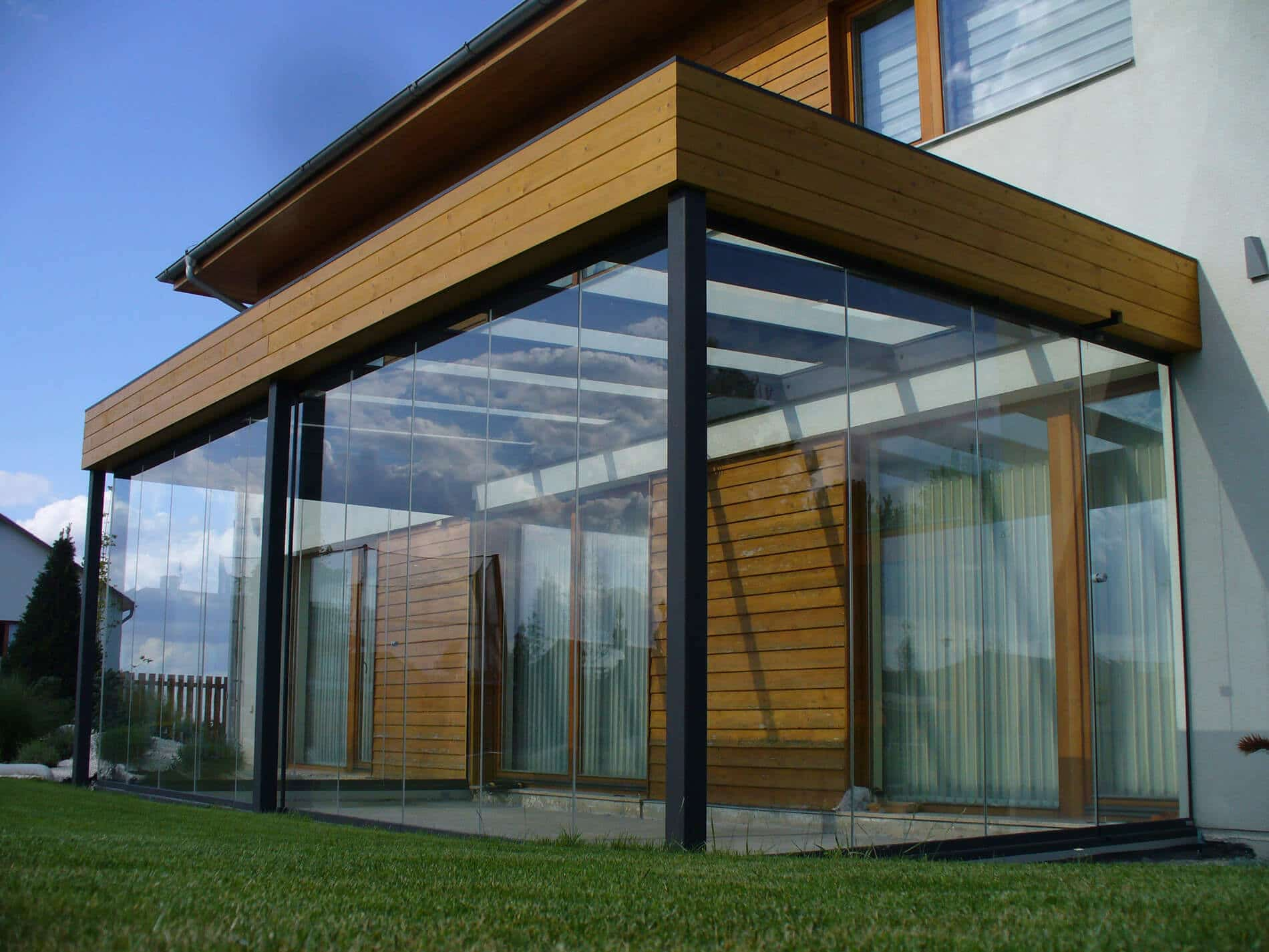 Sommergarten Alu Faltglas Systeme