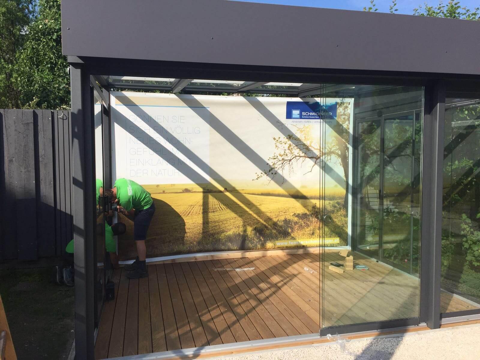 Sommergarten Alu Glas bei Fa. Secca in Ottensheim Oberösterreich