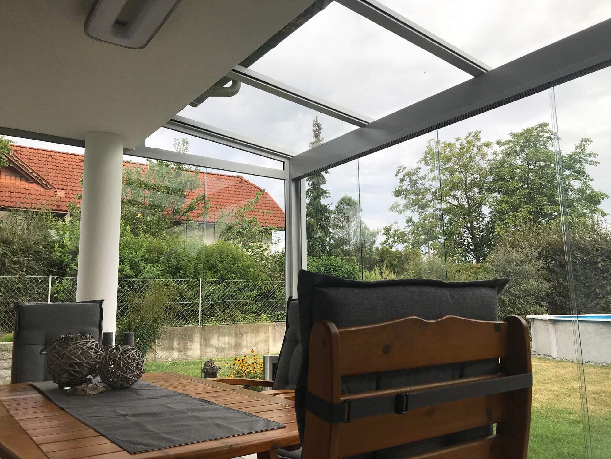 Sommergarten Alu Glas Oberösterreich