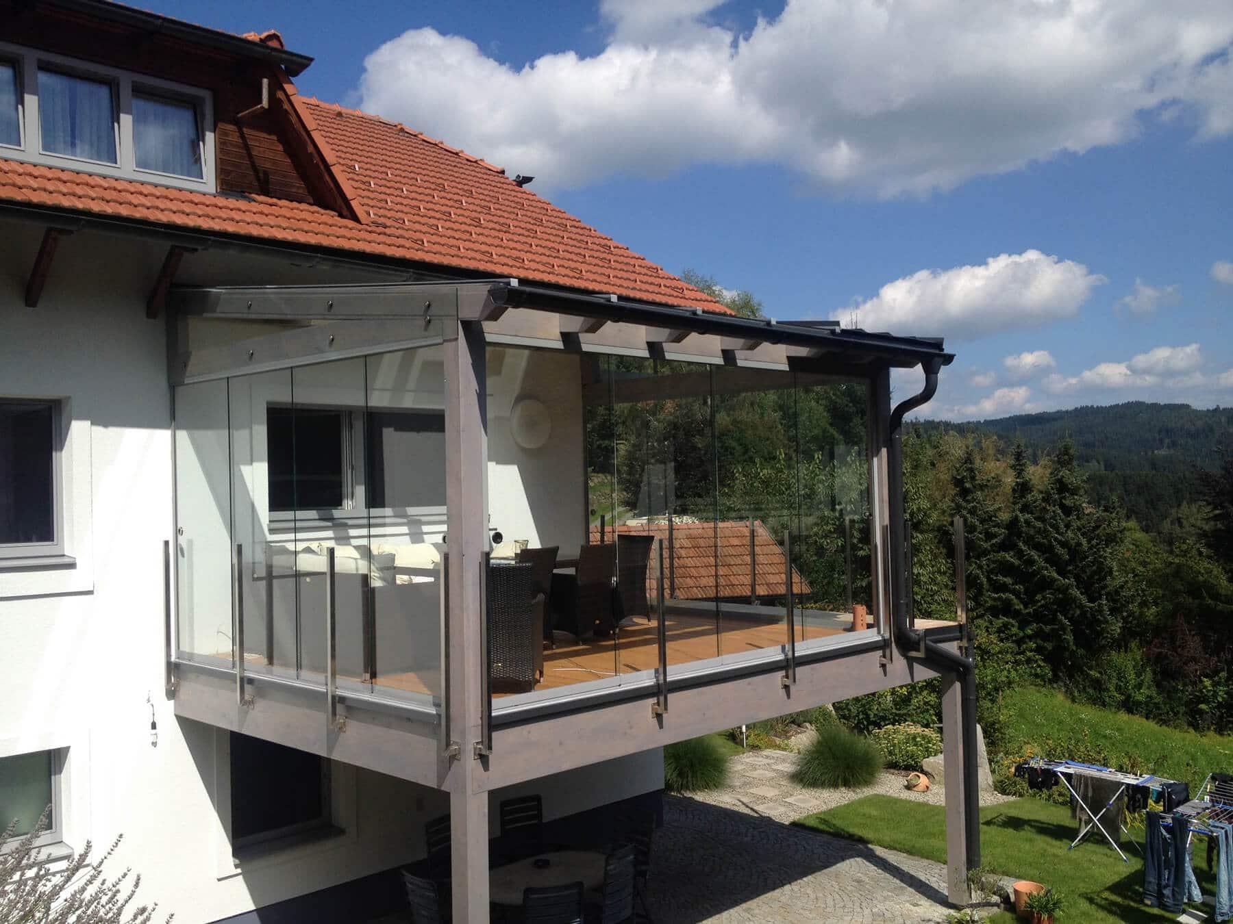Sommergarten auf Terrasse