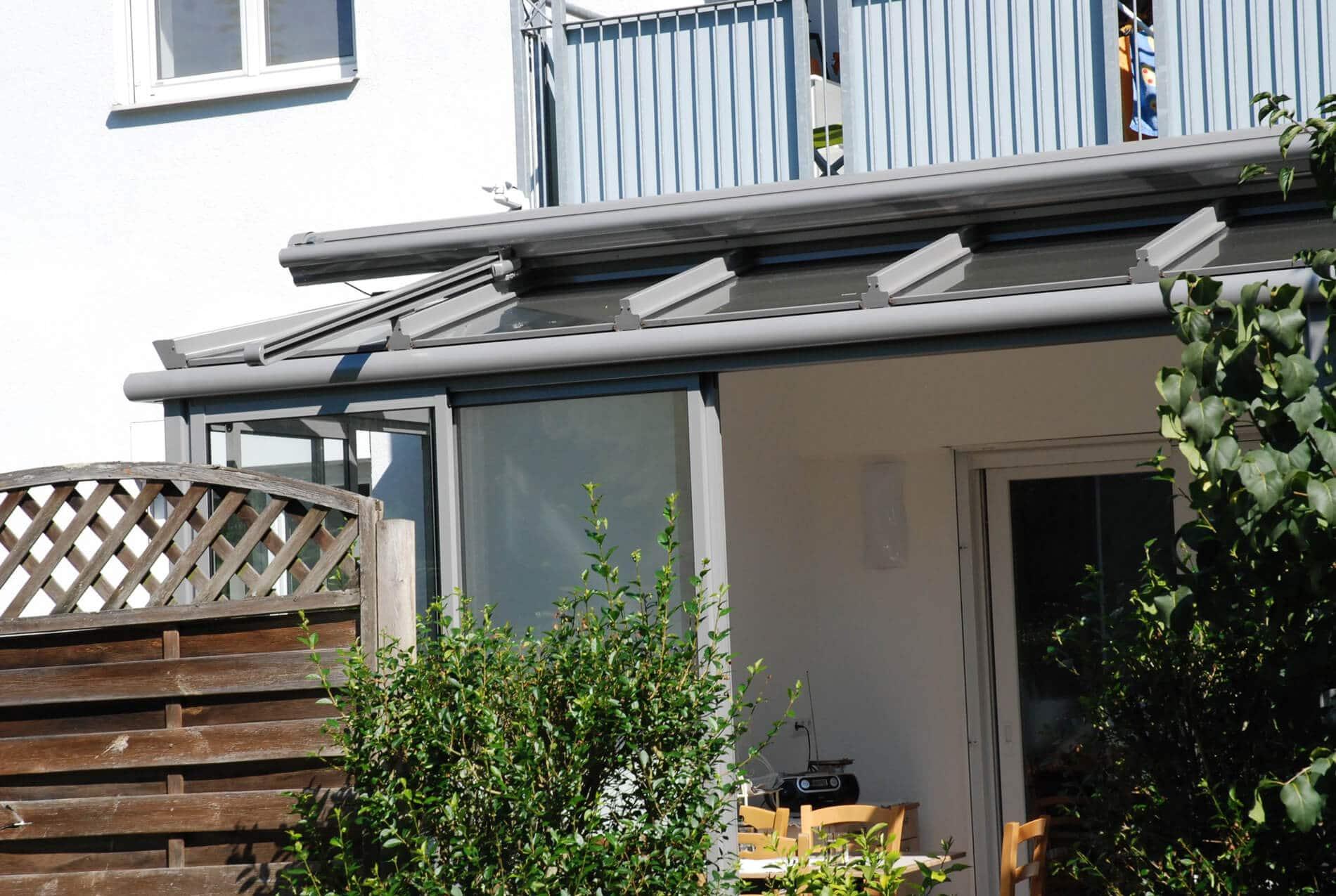 Sommergarten Dach Sicherheitsglas Schiebeelemente Neher Multiraum®