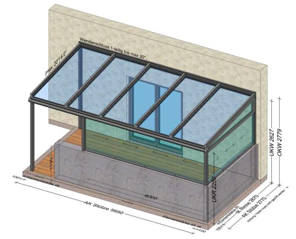 Sommergarten eine Seite offen - Planungsskizze