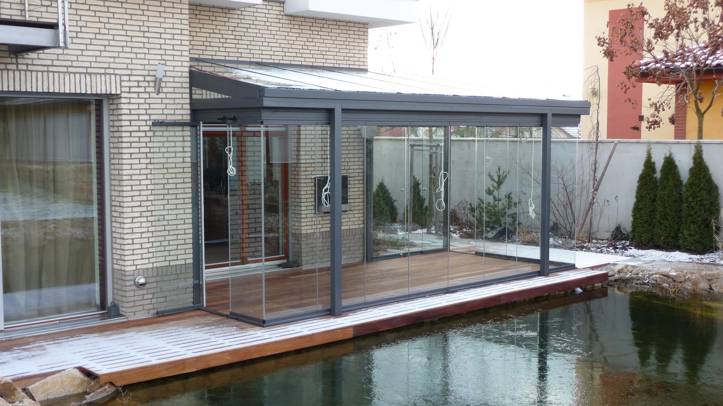 Sommergarten Glasanbau am Schwimmteich