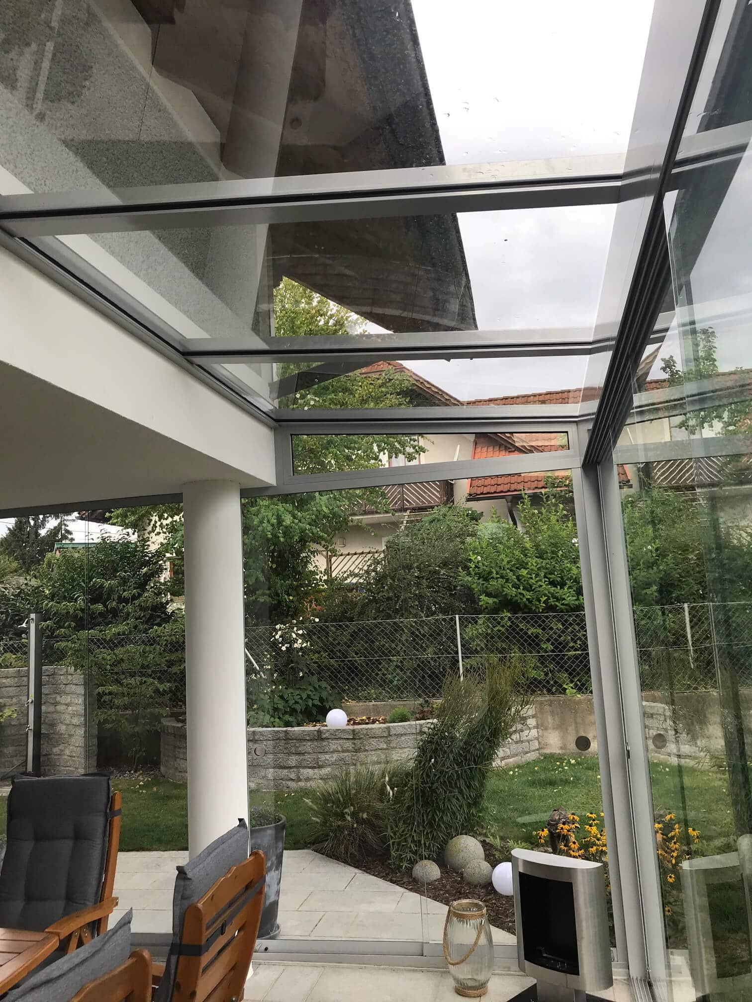 Sommergarten Glashaus