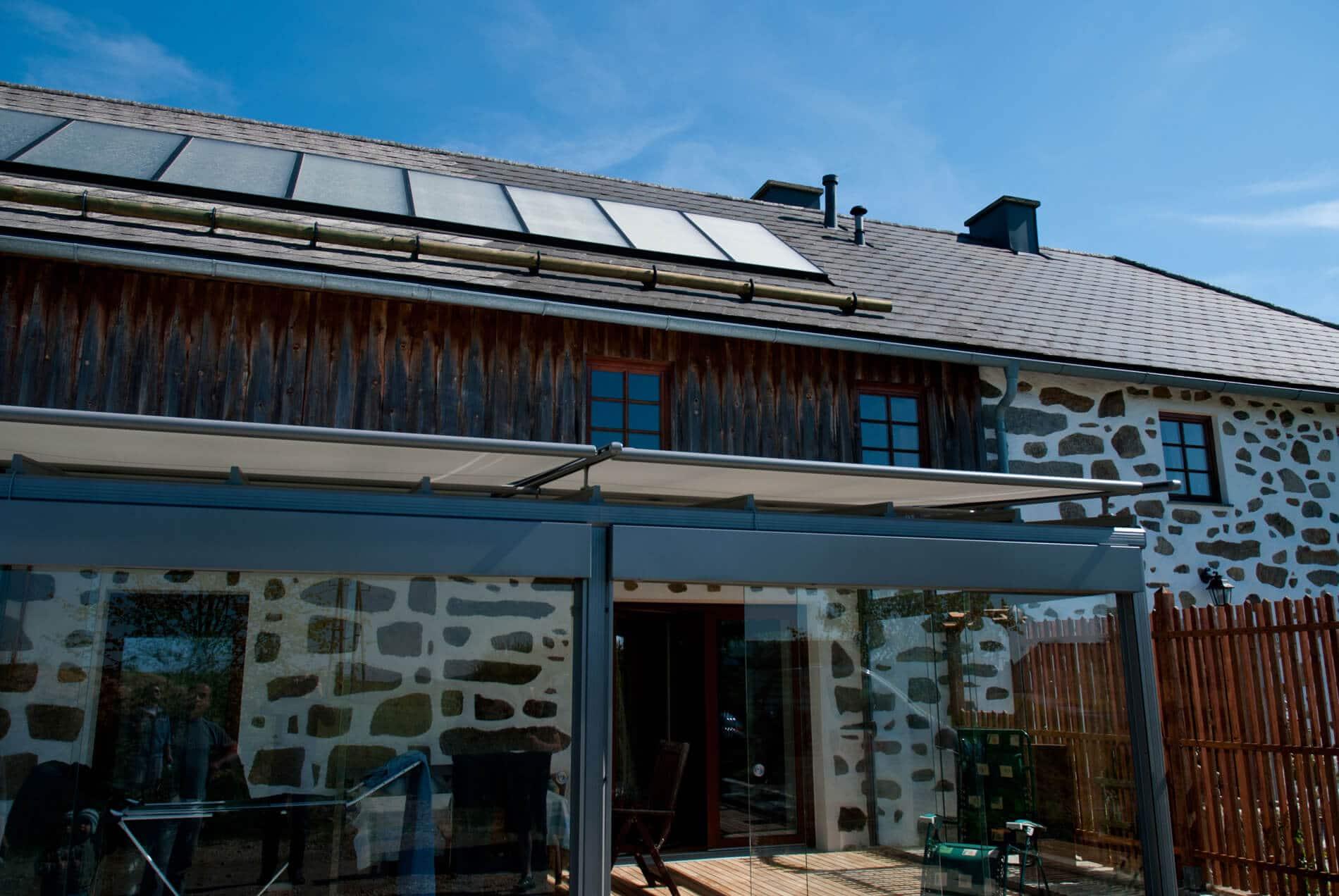 Sommergarten grau mit Dachbeschattung in 4210 Gallneukirchen