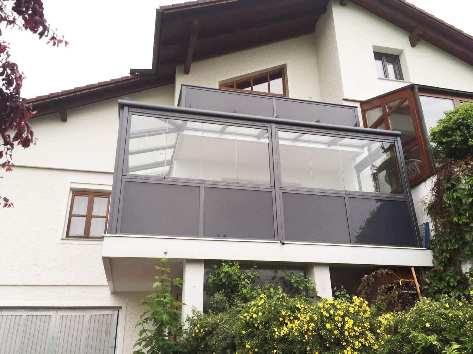 Sommergarten Kaltwintergarten unterm Balkon