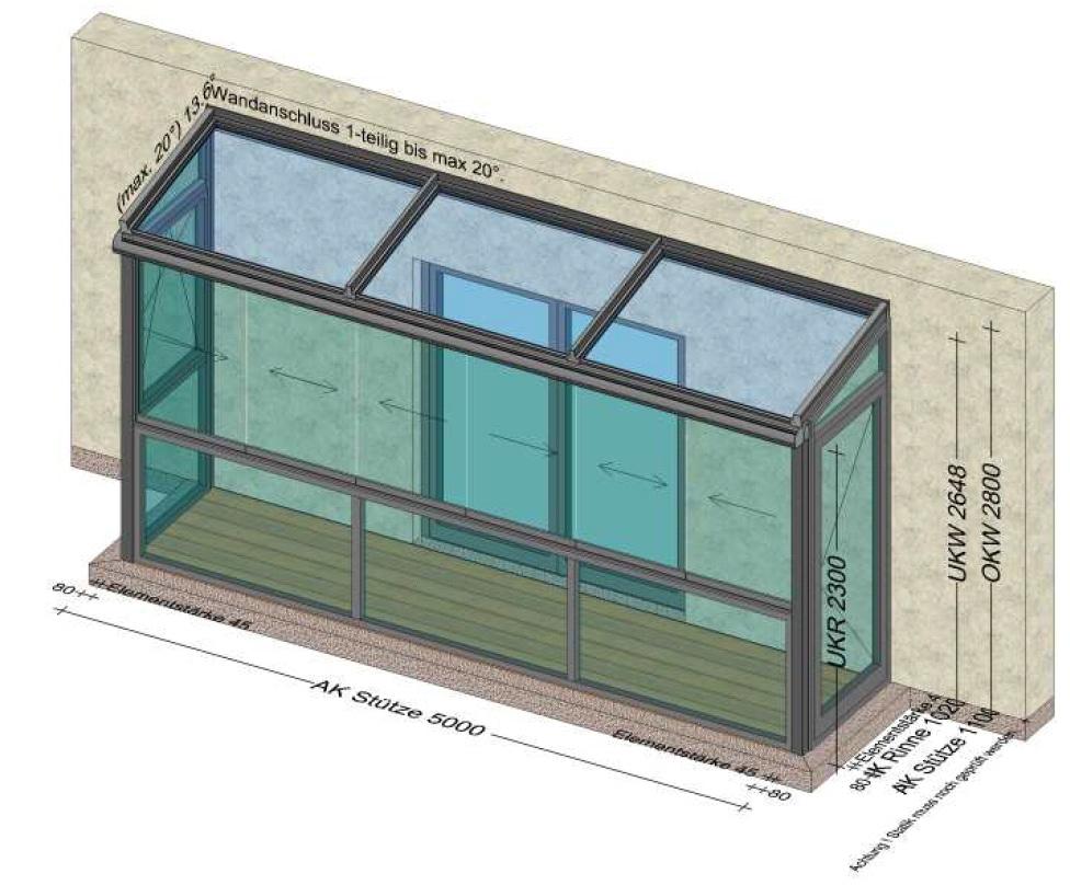 Sommergarten mit fixer Glasbrüstung - Planung in Bad Leonfelden