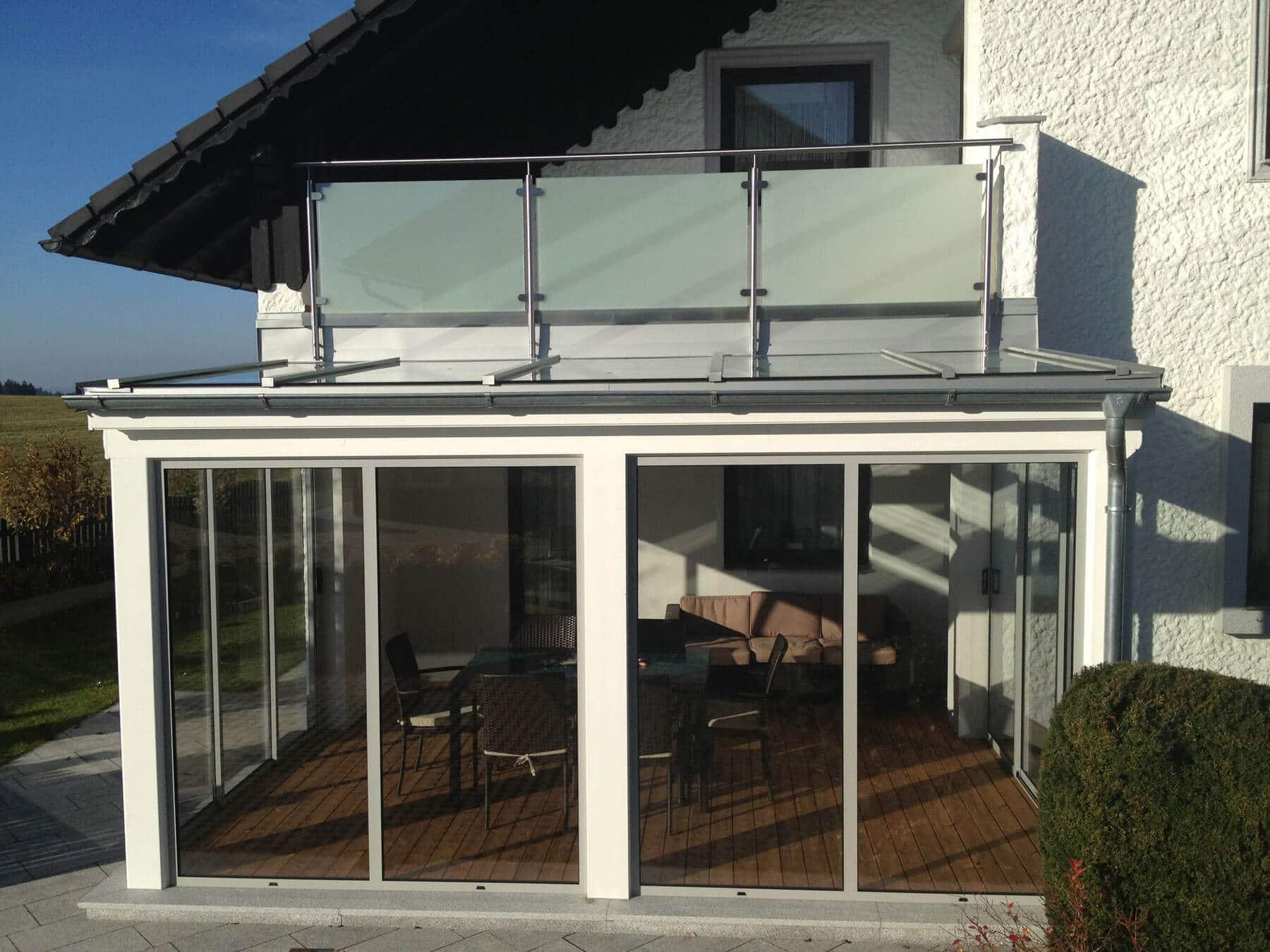 Sommergarten mit Glasdach