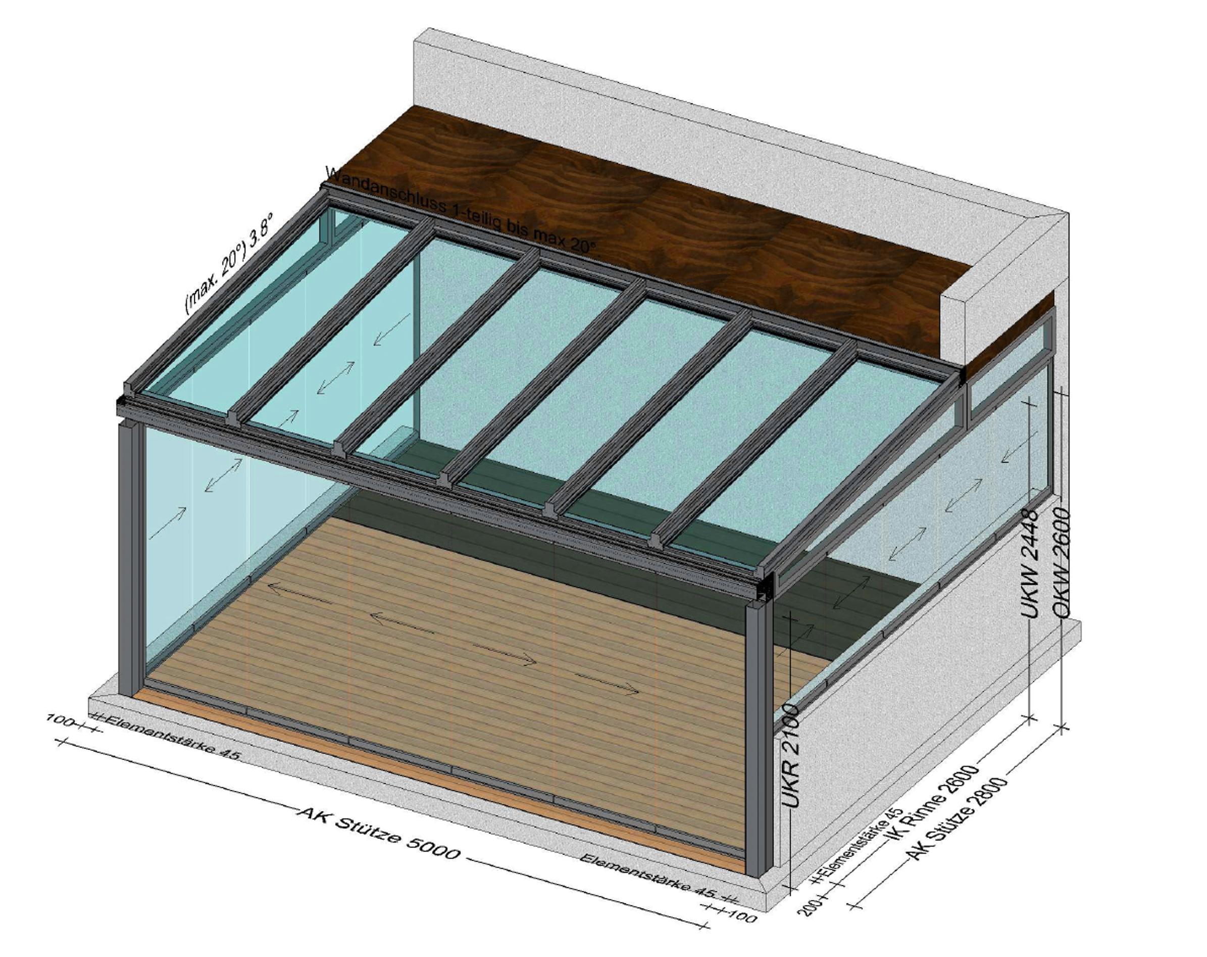 Sommergarten mit Sunflex Schiebesystemen SF 20