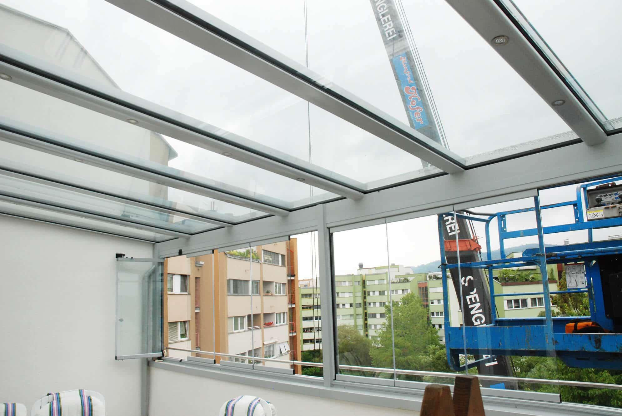 Sommergarten Montage auf einer Dachterrasse Österreich