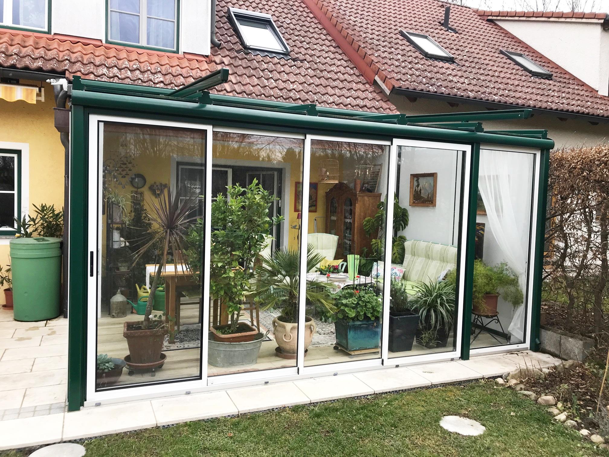 Sommergarten Schiebewände - 2-farbig