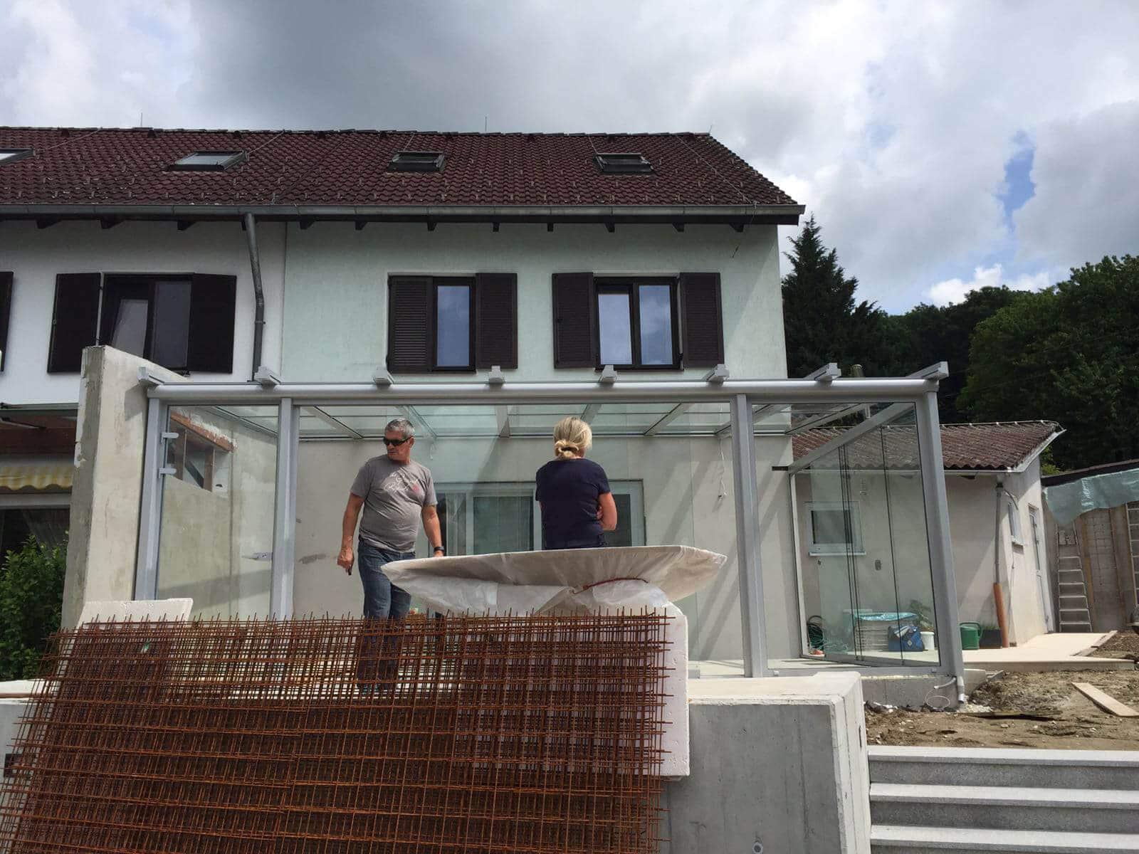 Sommergarten Terrasse Montage