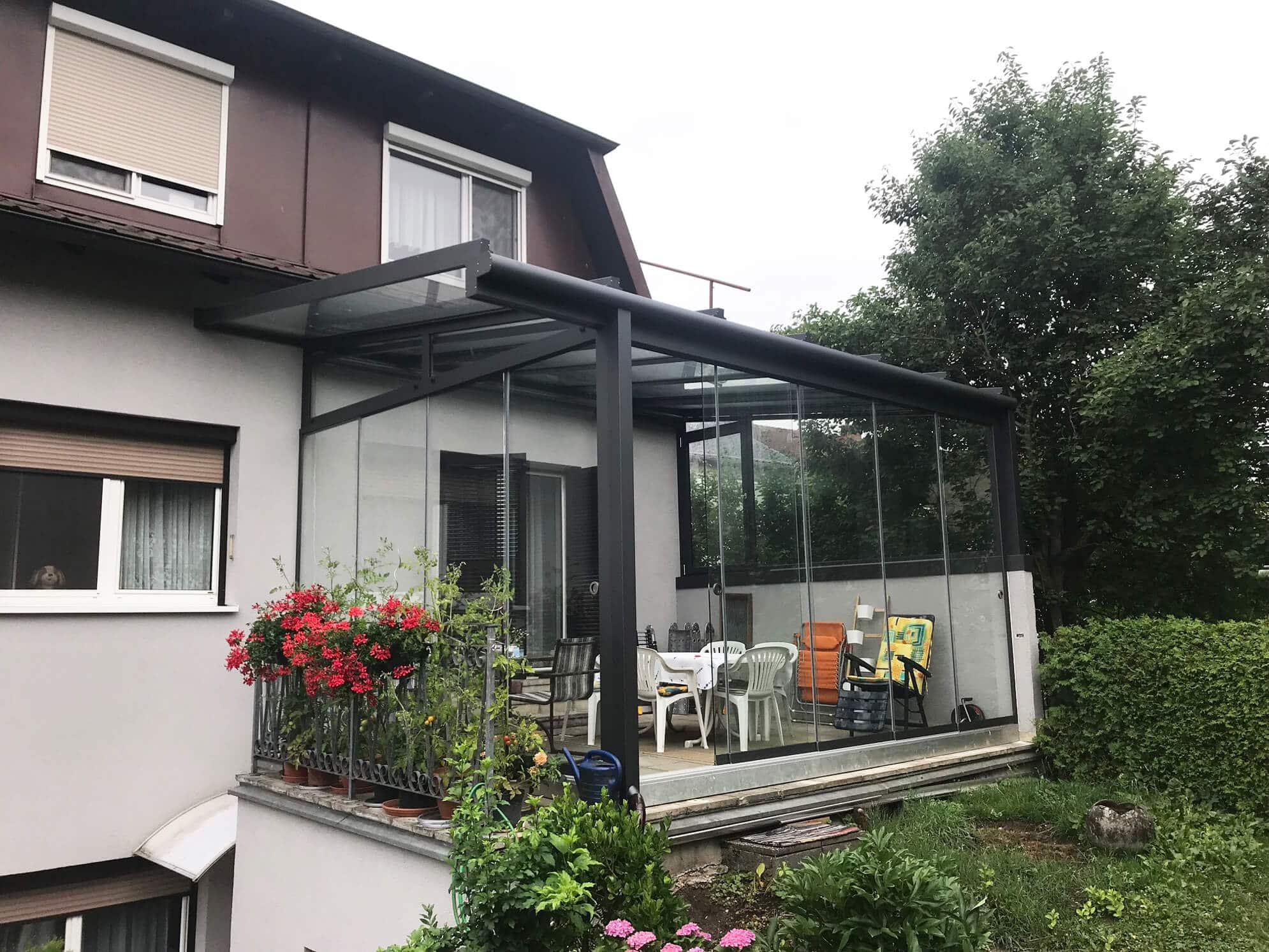 Sommergarten Verglasung