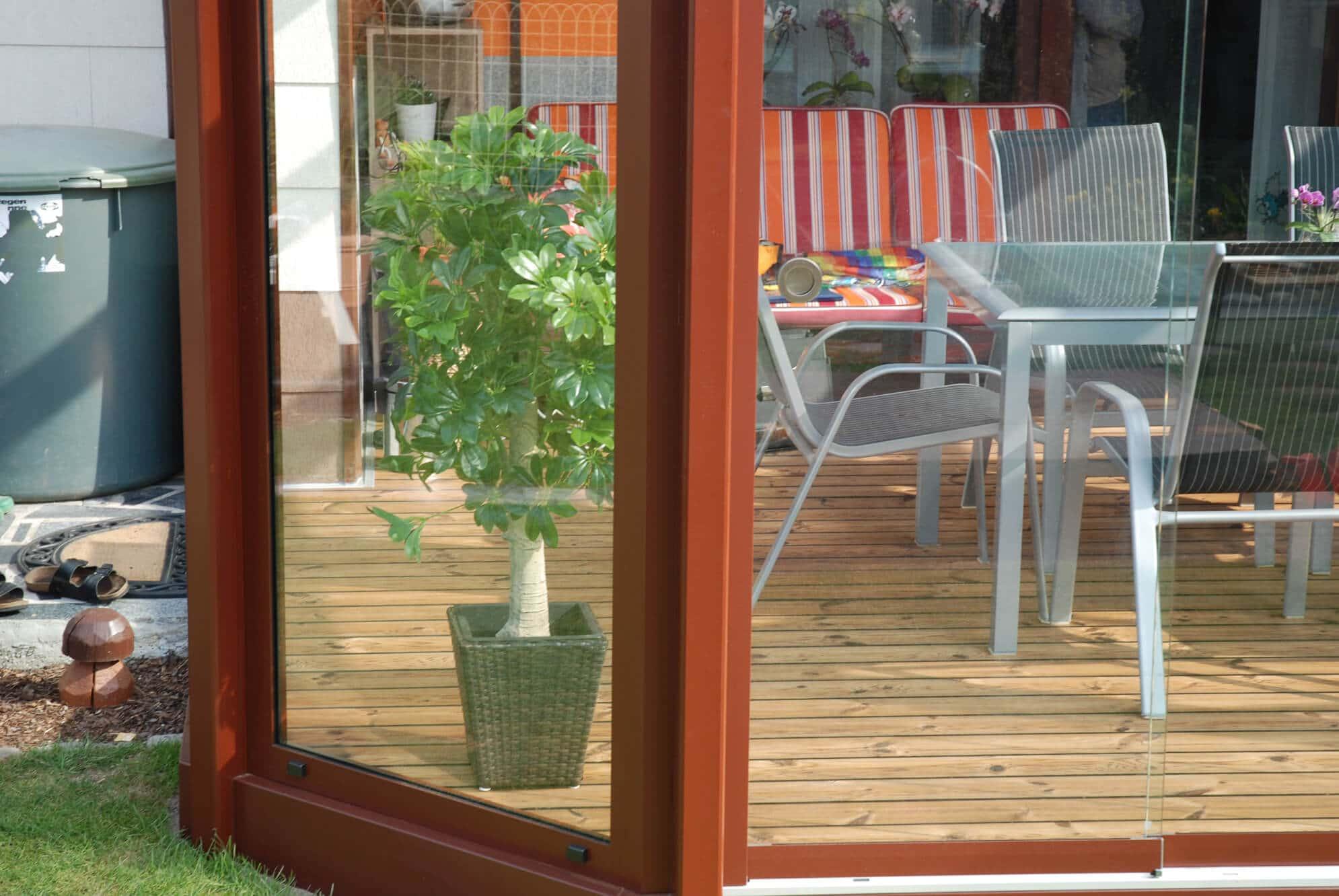 Sommergarten Windschutz Glas