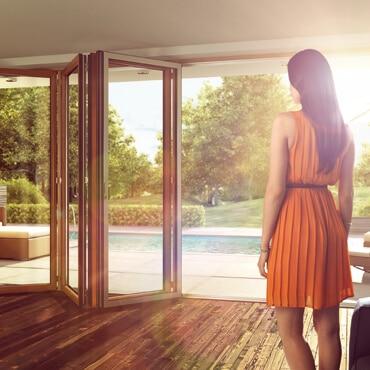 Sunflex Faltelemente Glas und Holz