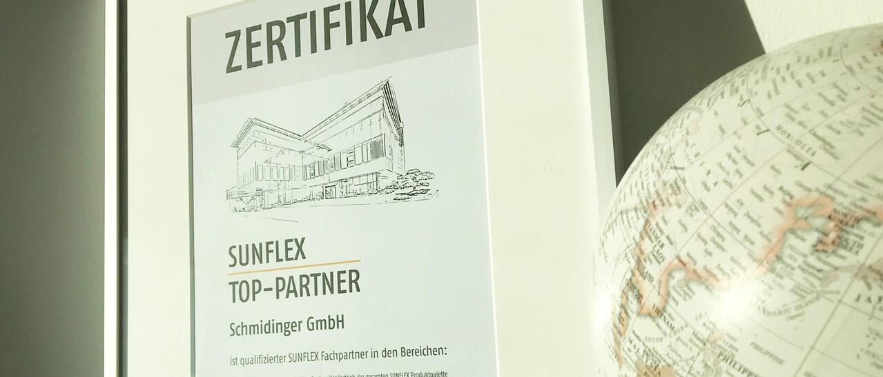 Sunflex Aluminiumsysteme Top-Partner Österreich
