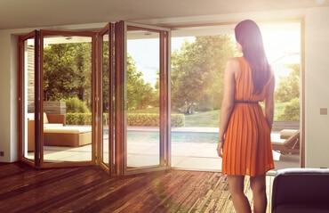 Sunflex Glasfalttüren