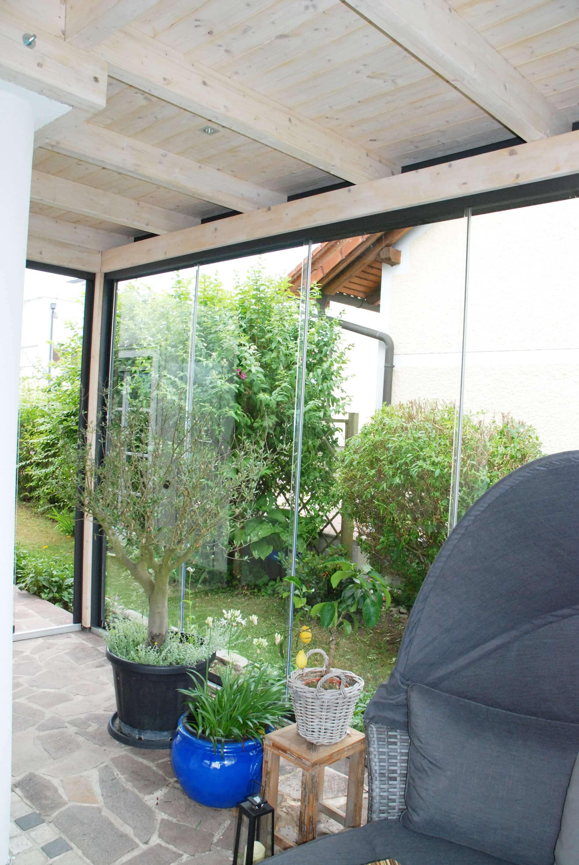 Sunflex Glasschiebewände für Sommergarten