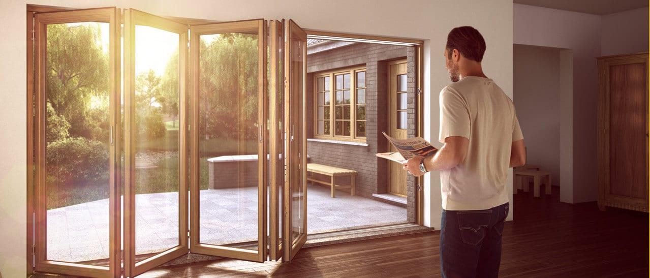Horizontal-Schiebewand und Falt-Schiebe-Systeme aus Holz in OÖ