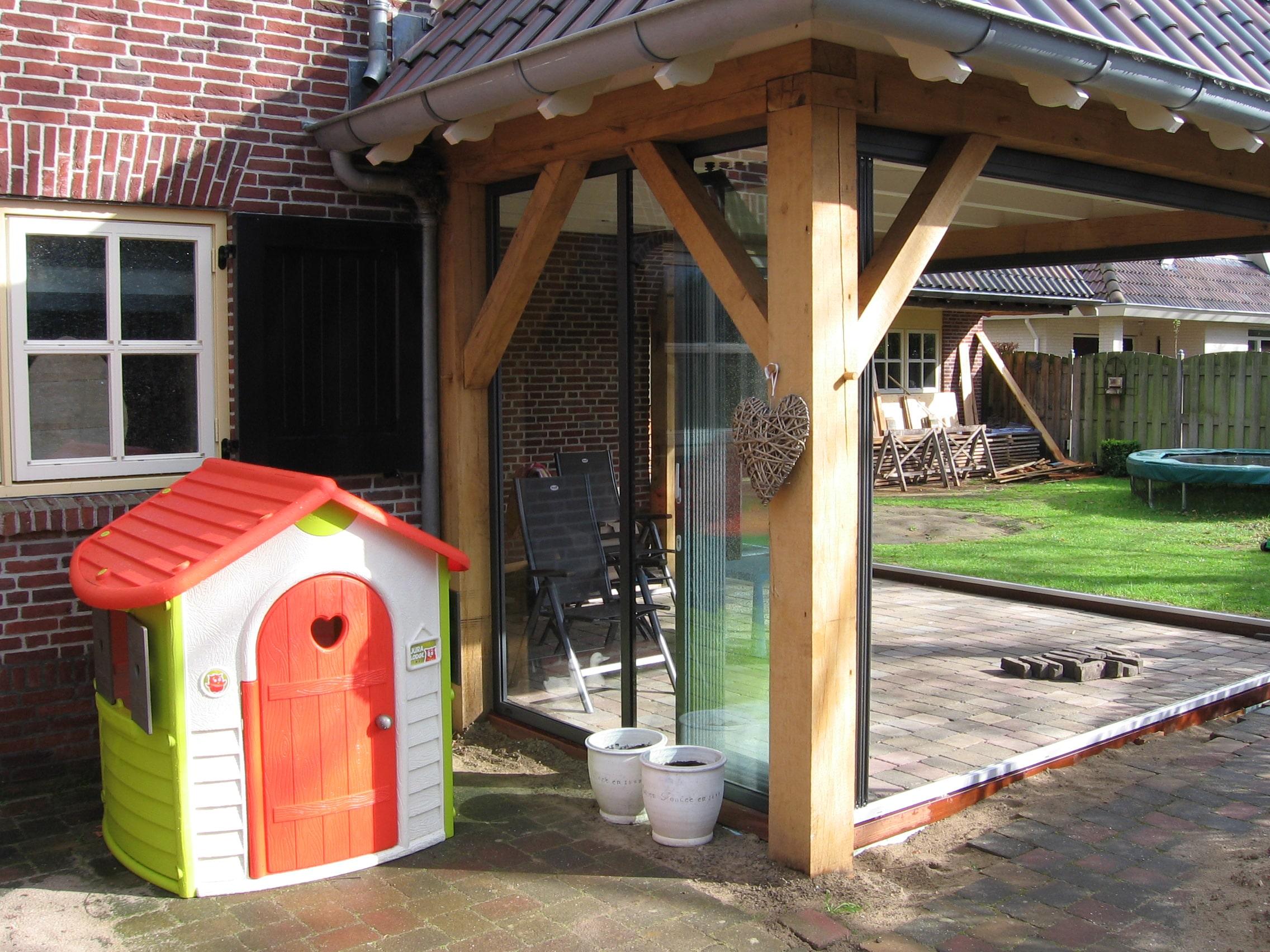 Terrasse Anbau vor Wind schützen