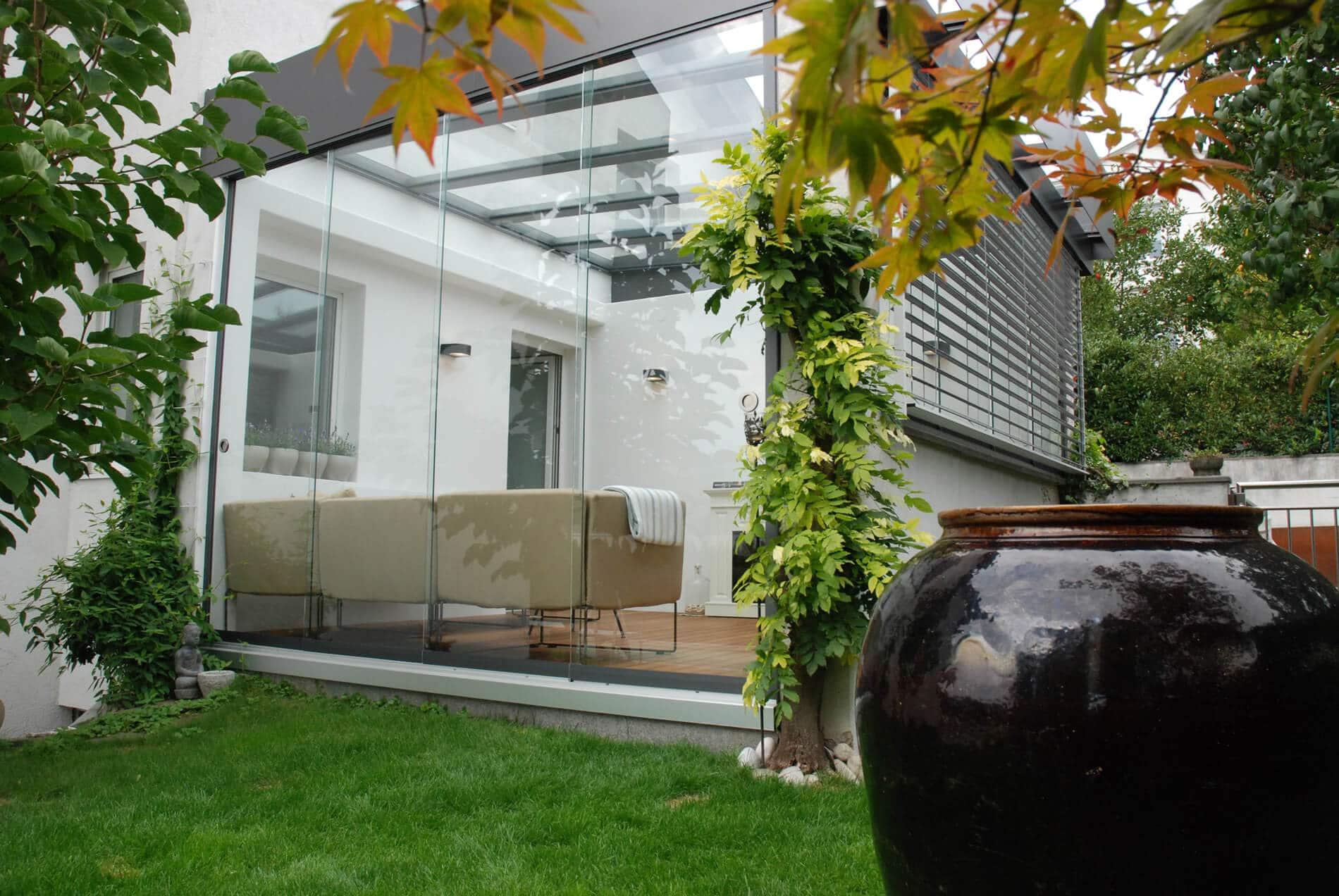Terrasse Glasschiebetüren Systeme