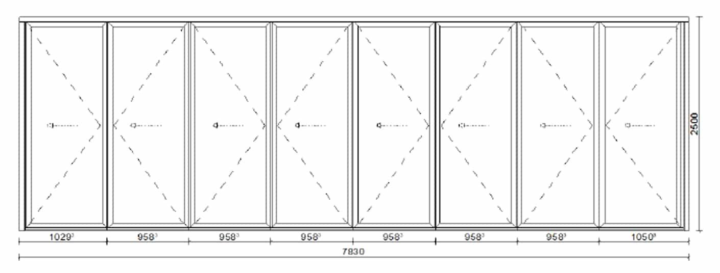 Terrassen Alu Falttüren kosten