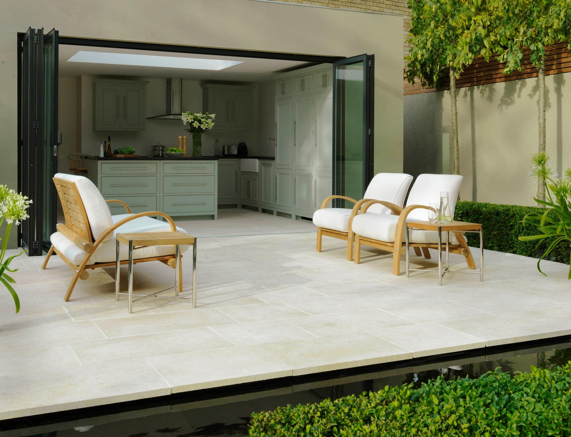 Terrassen Falttüren Aluminium und Glas