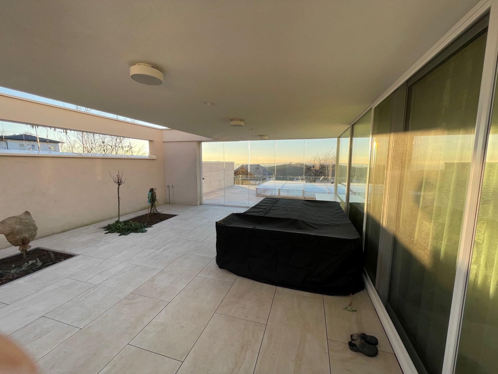 Terrassen Glasschiebeelemente 5 Teilig