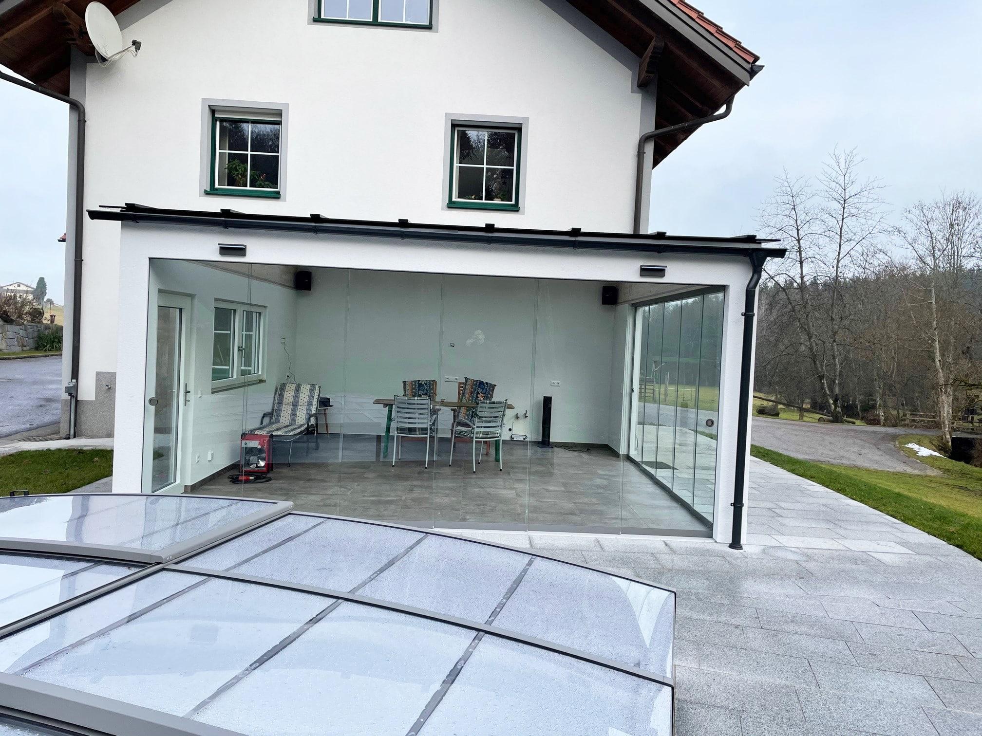 Terrassen Glasschiebeelemente nach Maß