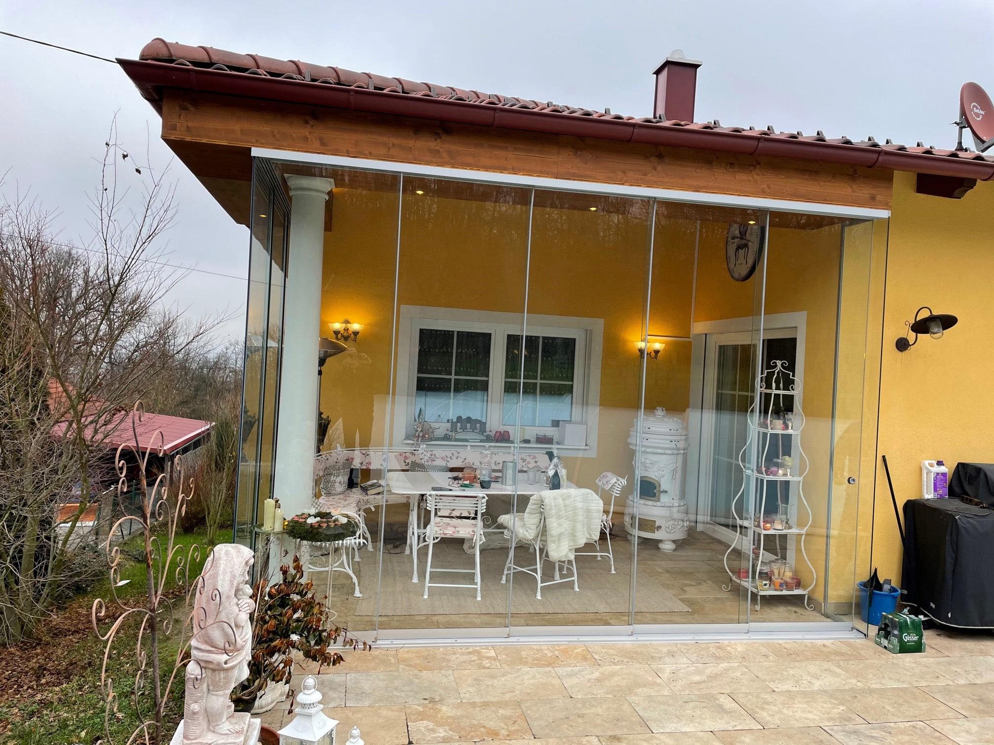 Terrassen Glasschiebeelemente von Schmidinger