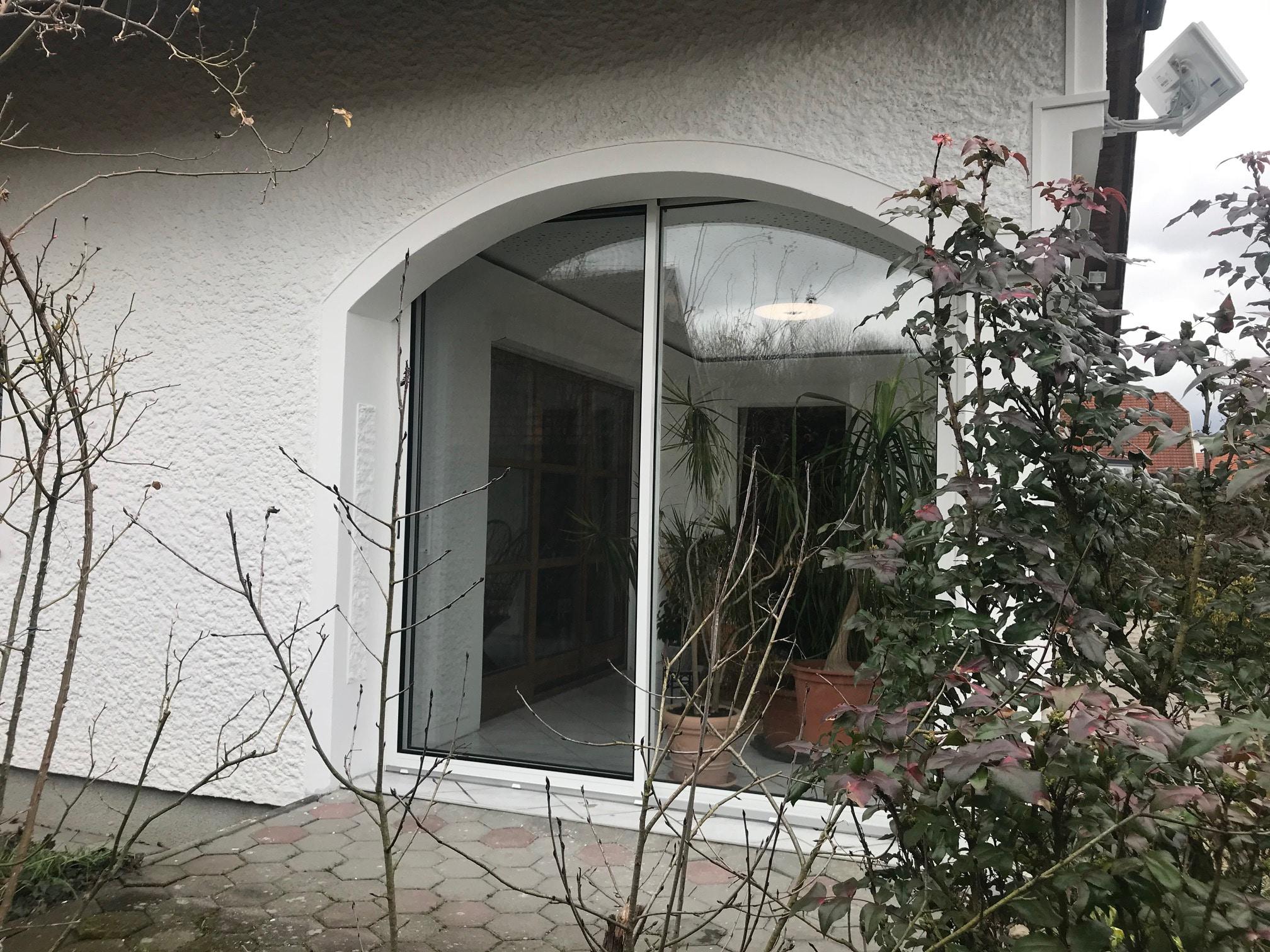 Terrassen Schiebetür Alu Glas