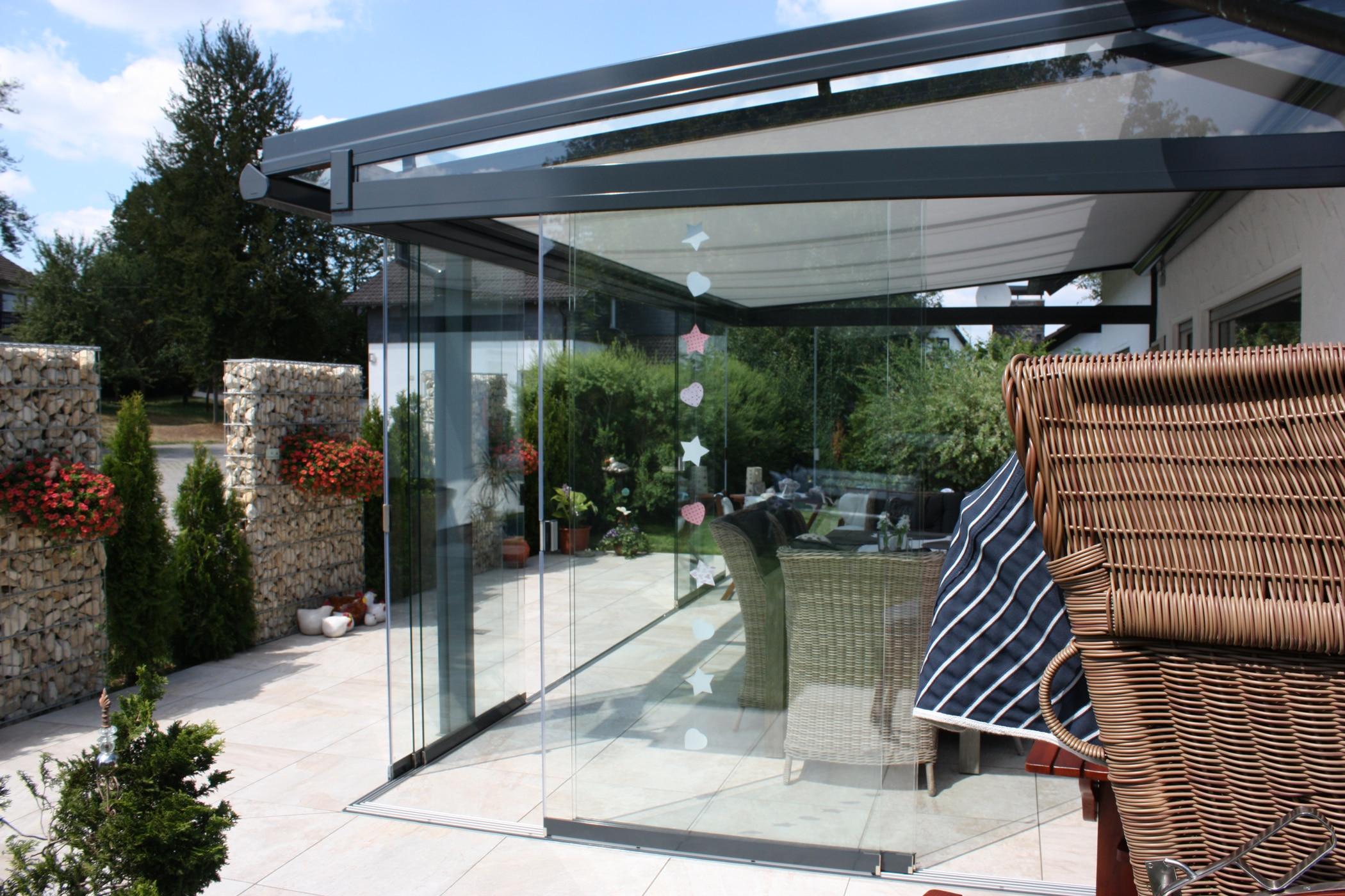 Terrassendach Glas & Alu in Oberösterreich