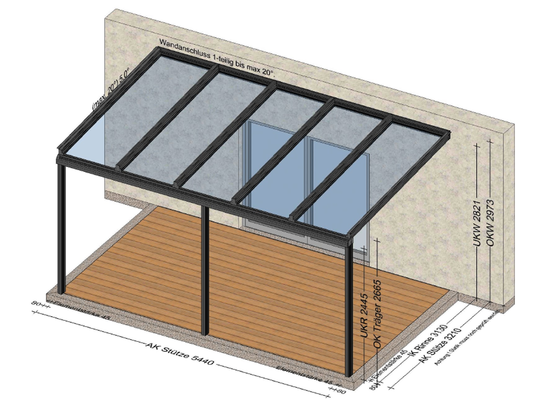 Terrassendach in Aluminium in Vöcklabruck
