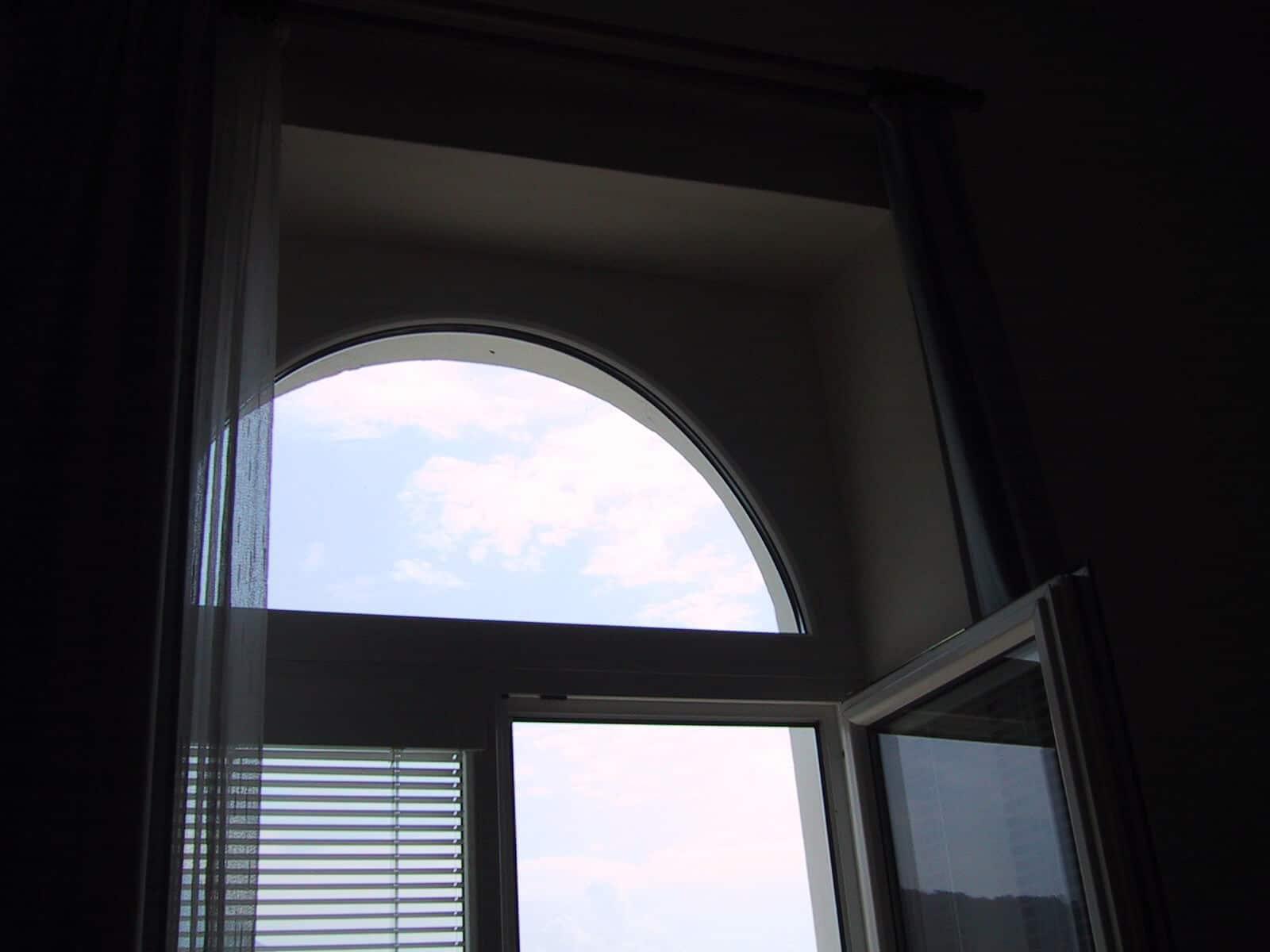 Terrassentüre mit Rundbogen Oberlichte