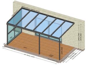 Terrassenüberdachung 1 Seite geschloßen - Preis