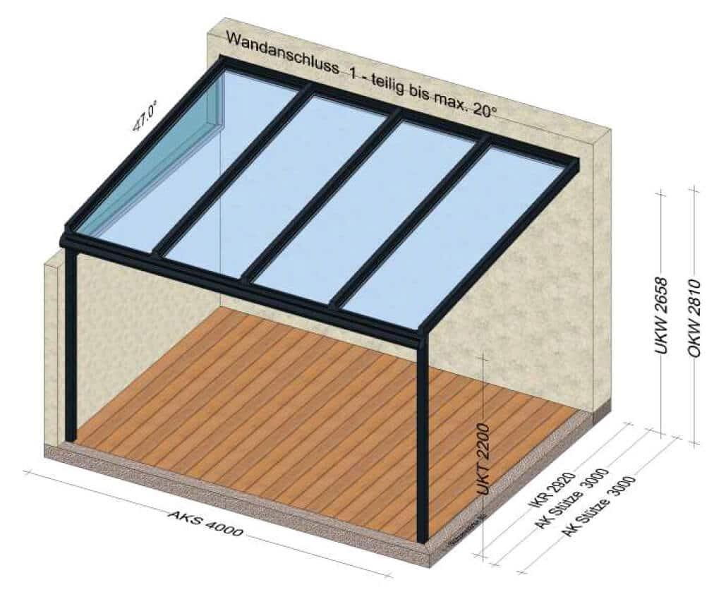Terrassenüberdachung 4x3